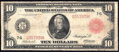 1914 $10 Red Seal Chicago Federal Reserve Note