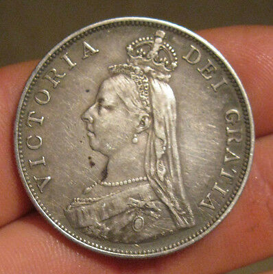 Great Britain - 1887 Large Silver Double Florin