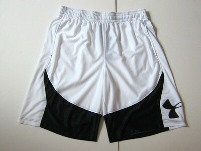 NWT Under Armour Athletic Gym Shorts Black White Loose Fit Men's Sz XL