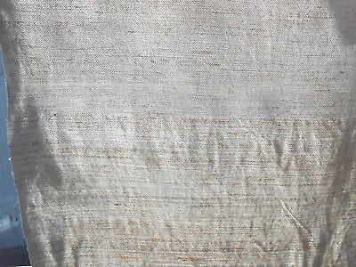 Antique Homespun Thin Hemp Linen mix Fabric 2,2x0,55m Light gray Great condition