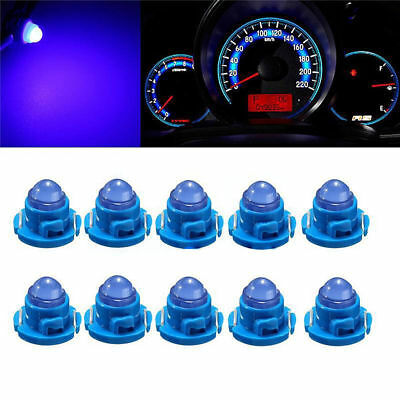 10x T4.7/T5 Blue Neo Wedge LED Bulb Dash Climate Control Instrument Base Light
