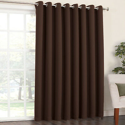 Blockout Eyelet Curtain 3 layer Pure Fabric Blackout Room Darkening  6 Colors