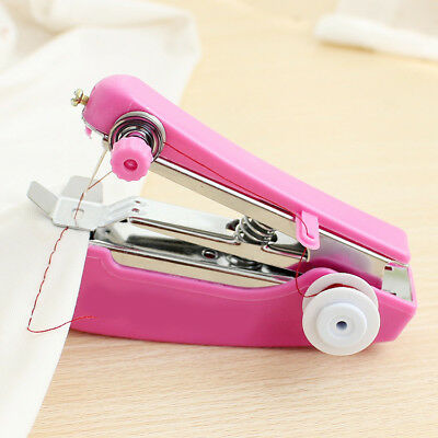 Portable Mini Stitch Hand Held Sewing Machine Handheld Electric Travel Household