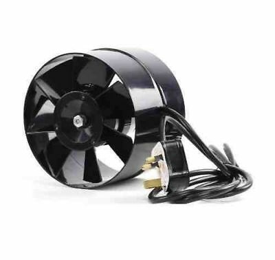 Black Orchid 100mm 4inch Diameter Axial Flo In Line Horticultural Extractor Fan