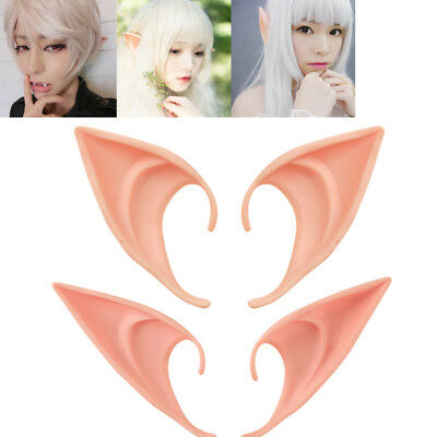 1Pair Halloween Costume Hobbit Latex Elf Ears Cosplay Party Props Creative Gift