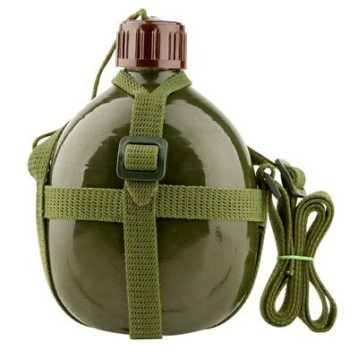 1.2L Vintage outdoor Water Bottle Military Army Soldier Canteen Kettle Jug Pouch