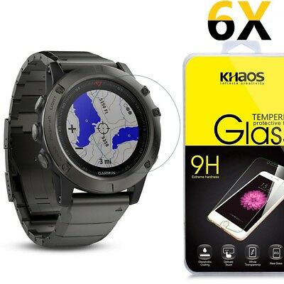 [6 Pack] Khaos For Garmin Fenix 5 Tempered Glass Screen Protector