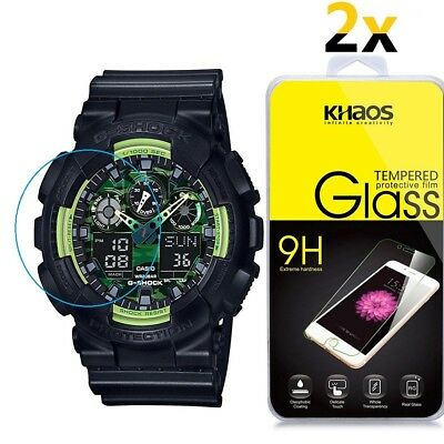 [2 Pack] Khaos For CASIO G-SHOCK Tempered Glass Screen Protector