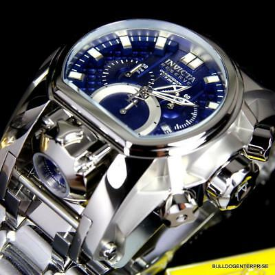 Invicta Reserve Bolt Zeus Magnum Swiss Blue Steel Dual Movement 52mm Watch New
