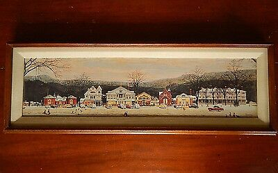 Norman Rockwell's Main Street, Stockbridge, Framed stretched canvas, repro.1991