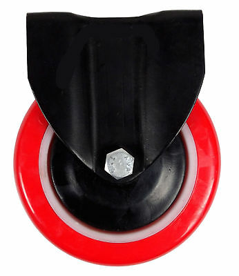 Plasto 150 mm Furniture Castor Red Single Wheel With Fixing Top Plate 1 Piece