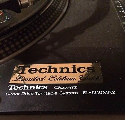 Technics Limited Edition Deck Decal Sticker x2