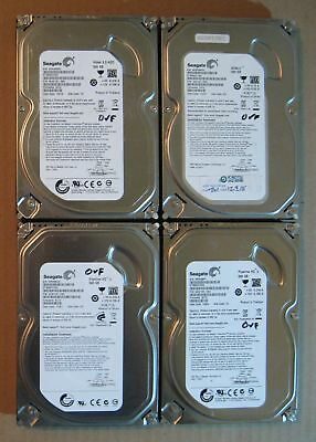 "Lot of 4 Seagate Slim SATA 3.5"" 500GB Internal Desktop Hard Drive"