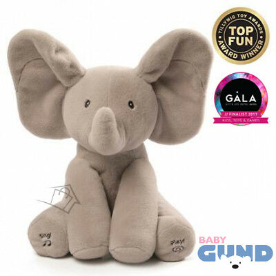NEW Baby Gund Flappy Elephant Animated Plush 30.5cm Sings Plays Peek-a-boo
