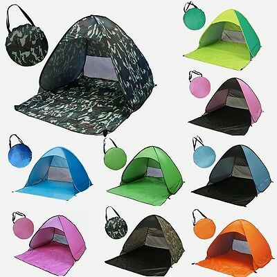 Folding Portable Pop Up Tent Sun Shelter Automatic Tent Outdoor Beach Shelter UK