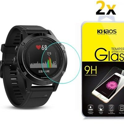 [2 Pack] Khaos For Garmin Fenix 5S Tempered Glass Screen Protector