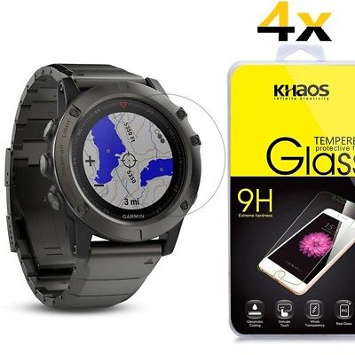 [4 Pack] Khaos For Garmin Fenix 5 Tempered Glass Screen Protector