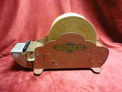ANTIQUE COUNTERBOY COUNTRY STORE CAST IRON TAPE DISPENCER WET SEALING circa 1925