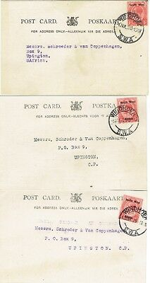South West Africa1925 KGV postcards from SAR&H (railways) regarding cattle claim