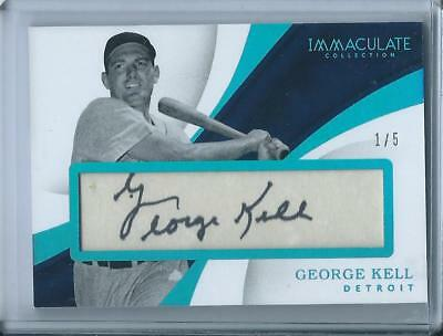 2017 George Kell Immaculate Cut Auto /5 Signed Autograph Signature