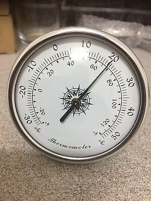 Quality Precision Aneroid 70mm Silver Thermometer Insert
