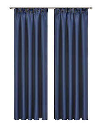 Blockout Curtain Pencil Pleat Blackout Room Darkening 230CM DROP 1 Panel/Bag