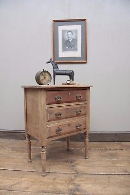 Small Stripped Oak Drawers Modern Rustic Bedside Drawers