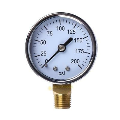 "1/4"" NPT Side Mount 2""Face 200PSI Air Compressor Hydraulic Pressure Gauge SS6"