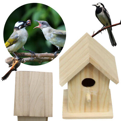 Wooden Outdoor Garden Birds Nesting Box House Nest Home Accessories Craft Yard