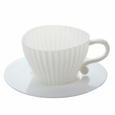 4pcs Silicone Cupcake Cups Cake Mold Muffin Baking Mould Chocolate Tea Cup W7B1