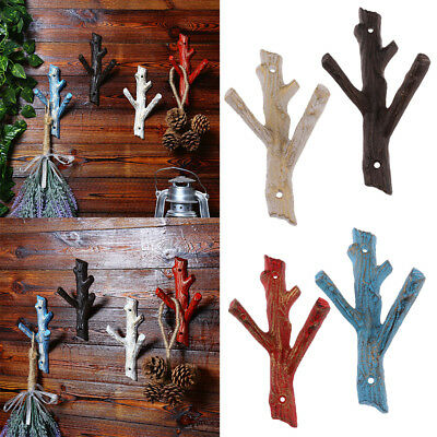 Cast Iron Tree Branch Shaped Wall Hooks Strong Coat Towel Clothes Hanger Holder