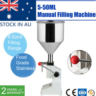 Manual Liquid Filling Machine Cream Paste Shampoo Cosmetic Bottle Filler 5-50ml