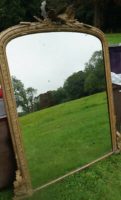 Large Antique Gold Mirror 110 Cms Wide X 144 High