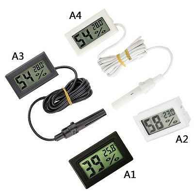 2pcs Digital LCD Indoor Temperature Humidity Meter Thermometer Hygrometer NEW