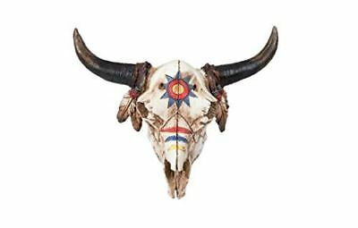 Bison Skull Decorated in War Paint Ornament