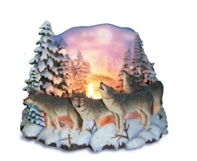 Novelty Wandering Wolf pack Candle holder