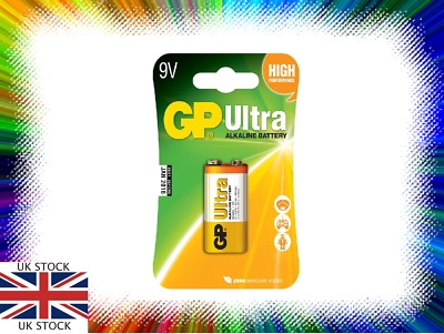 1 x GP ULTRA 9V Batteries MN1604 6LR61 PP3 BLOCK 6LF22 ALKALINE