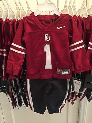 OU Sooners Oklahoma Football Jersey Two Piece Outfit 3/6 & 6/9 Month NWT Re $38