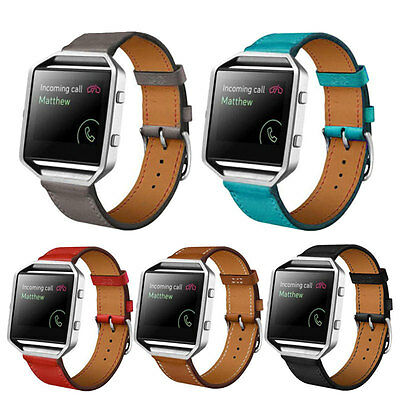 Luxury Genuine Leather Watch band Wrist strap For Fitbit Blaze Smart Bracelet ZM