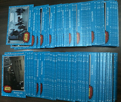 2017 Star Wars the Last Jedi Complete 110 card set including 2 Puzzles