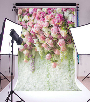 5x7FT  Vinyl Photography   Background  Purple flowers Backdrops  Wedding  Props