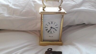 A Vintage AINSWORTH Brass Carriage Clock.