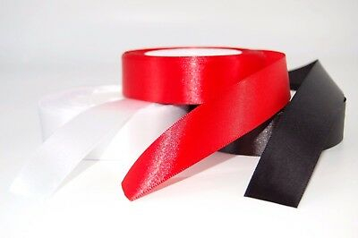23 METRES HIGH QUALITY 25mm SATIN RIBBON AVAILABLE IN 3 COLOURS