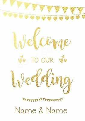 Welcome to our Wedding - Real Foil Quote Print Inspirational Art - Many Colours
