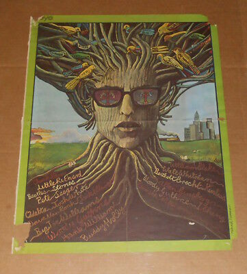 Bob Dylan Musical Roots Sept 1968 Eye Magazine Poster (tree) 25x19.5 RARE