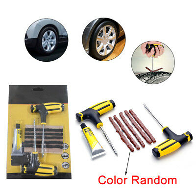 Car Tubeless Tyre Tire Puncture Repair Plug Kit Needle Patch Fix Tools new