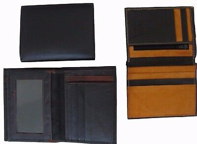 Men's GENUINE Leather Wallet Trifold ID Card Holder Money +2 Extra RFID Block