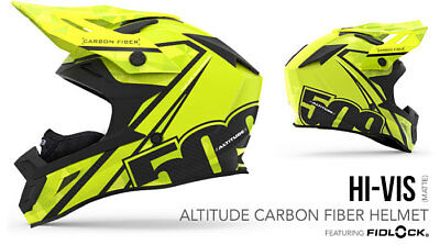 2018 - 509 Altitude Carbon Fiber Snowmobile Helmet Hi-Vis Medium 509-Hel-Ach-Md
