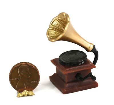 Golden Frame Mirror Phonograph Record Player 2x 1//12 Dollhouse Accessories