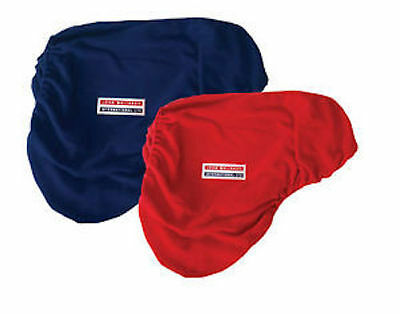 John Whitaker Fleece Saddle Cover - One Size - Red-Navy-Fast & Free